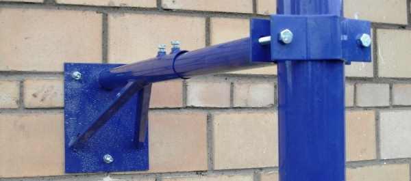 телескопический стеновой, вынос, крепление